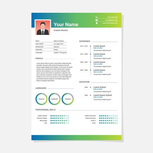 Resume Minimalist CV Template - Download Free Vector Art, Stock - minimalist resume template