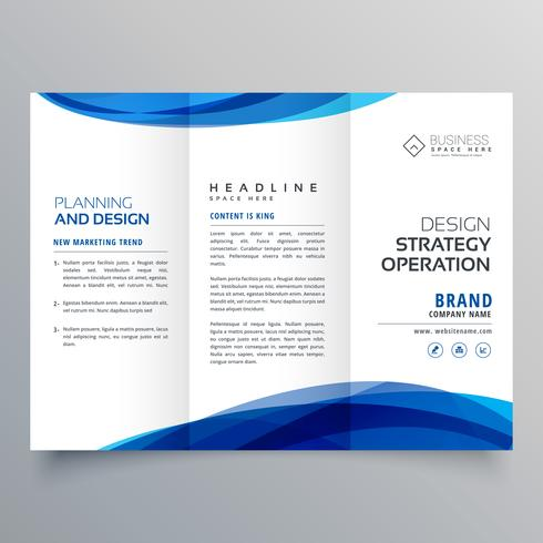 stylish blue wave business brochure template for marketing - marketing brochure