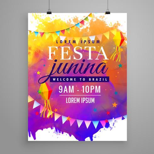 festa junina party celebration invitation flyer design - Download - invitation flyer sample