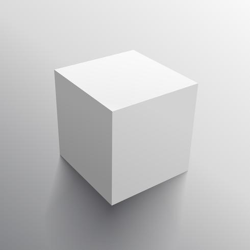 realistic 3d cube box design template - Download Free Vector Art