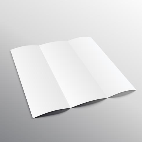trifold blank brochure mockup design in perspective - Download Free - blank brochure