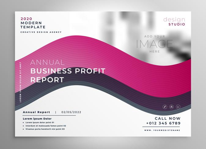 creative wavy business presentation flyer poster design template