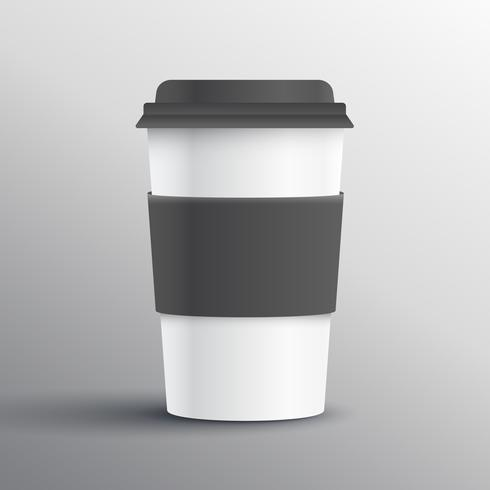 realistic coffee mug template design object - Download Free Vector