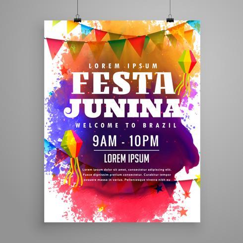festa junina invitation flyer template design - Download Free Vector - invitation flyer sample