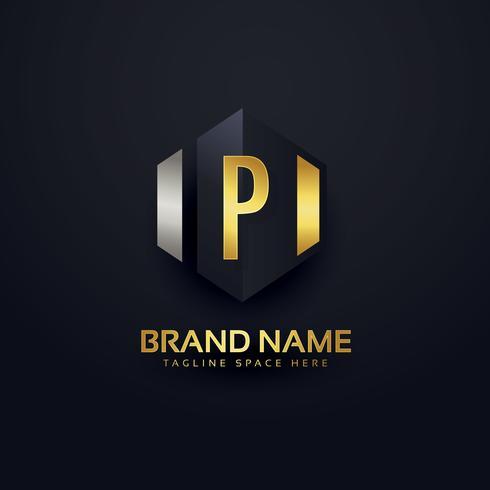 premium letter P logo design template - Download Free Vector Art