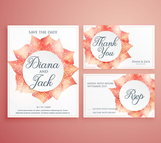 save the date wedding invitation card template beautiful flower - Save The Date Wedding Templates