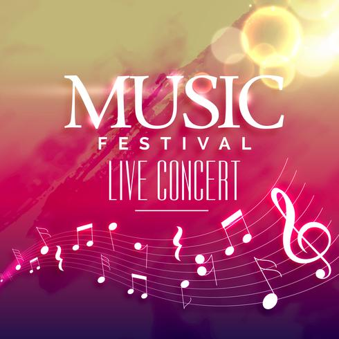 music party invitation background design - Download Free Vector Art