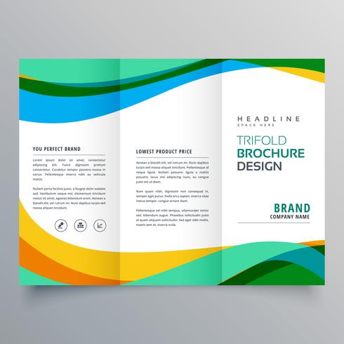 Modern Style Trifold Brochure Template For Business Stock Vector