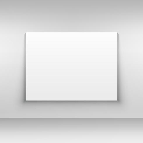 white canvas on wall mockup design template - Download Free Vector