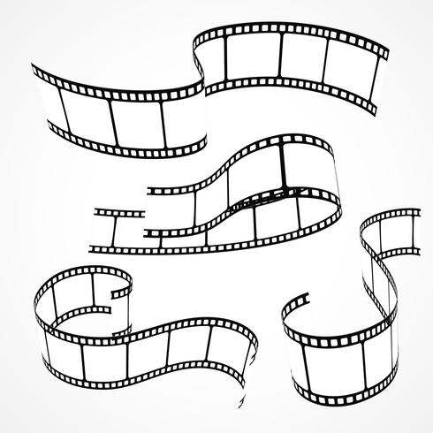 set of 3d film strips - Download Free Vector Art, Stock Graphics