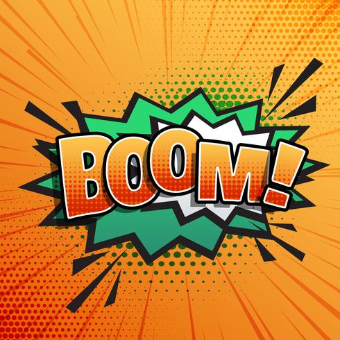 comic sound text effect of boom in pop style art - Download Free