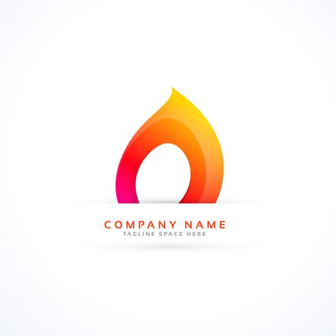 creative flame logo in abstract style - Download Free Vector Art - flame logo
