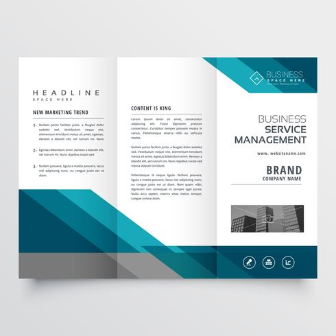 business trifold brochure leaflet design in size A4 for print