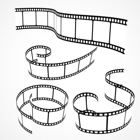 collection of 3d film strips - Download Free Vector Art, Stock