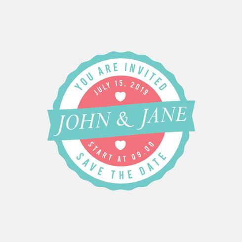 Vintage Wedding Stamp Template - Download Free Vector Art, Stock - stamp template
