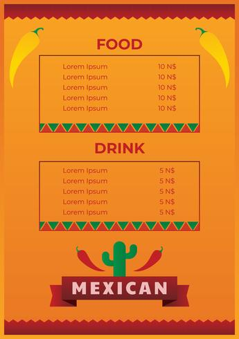 Mexican food menu template - Download Free Vector Art, Stock - food menu template