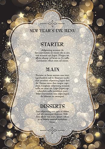 Decorative New Year\u0027s Eve menu - Download Free Vector Art, Stock