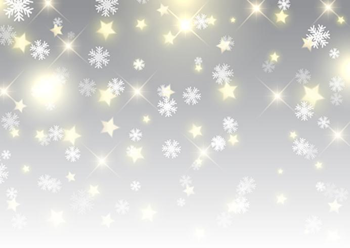 Christmas background of stars and snowflakes - Download Free Vector