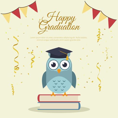 Plantilla de tarjeta de graduación feliz - Descargue Gráficos y