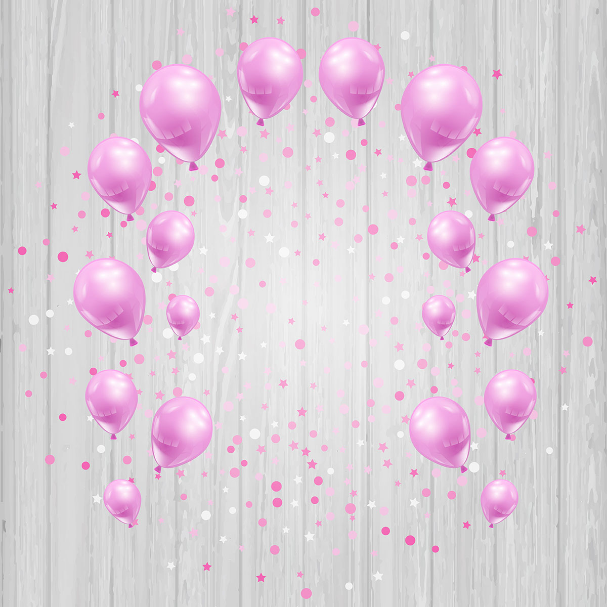 Free Falling Snow Wallpaper Download Celebration Background With Pink Balloons And Confetti