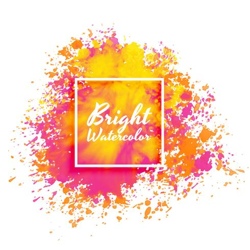 bright pink and yellow watercolor splatter background - Download