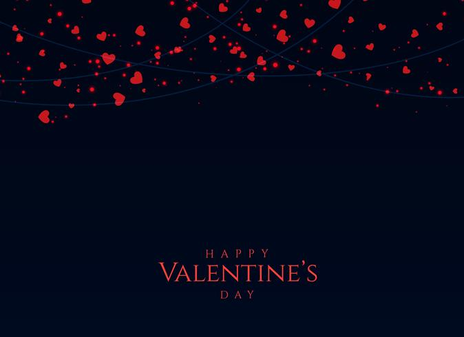 dark background with red hearts for valentine\u0027s day - Download Free