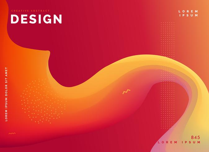 colorful wave template poster design background - Download Free