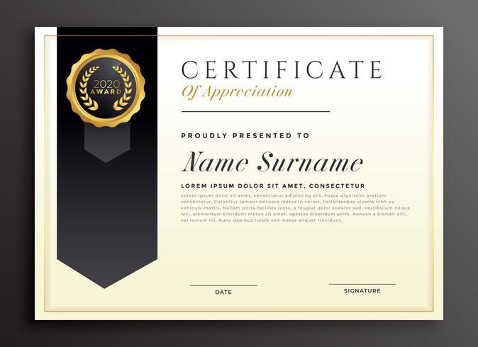 elegant diploma award certificate template design - Download Free