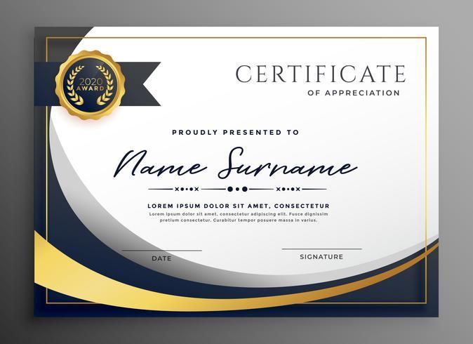 premium wavy certificate template design - Download Free Vector Art