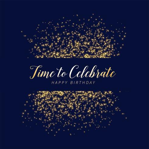 happy birthday celebration glitter and sparkles background