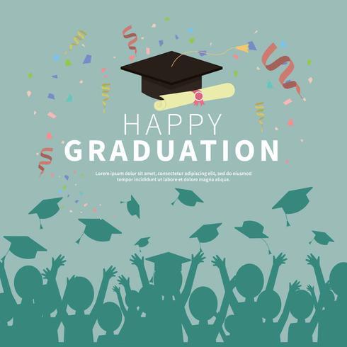 Ilustración de la tarjeta de graduación - Descargue Gráficos y