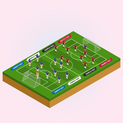 Isometric View Field With Football Players Illustration - Download - isometric view