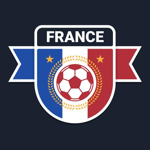 French Soccer Or Football Badge Logo Design - Download Free Vector