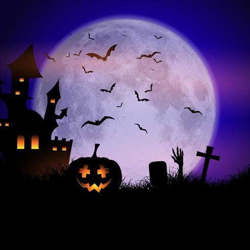 Spooky Halloween background - Download Free Vector Art, Stock