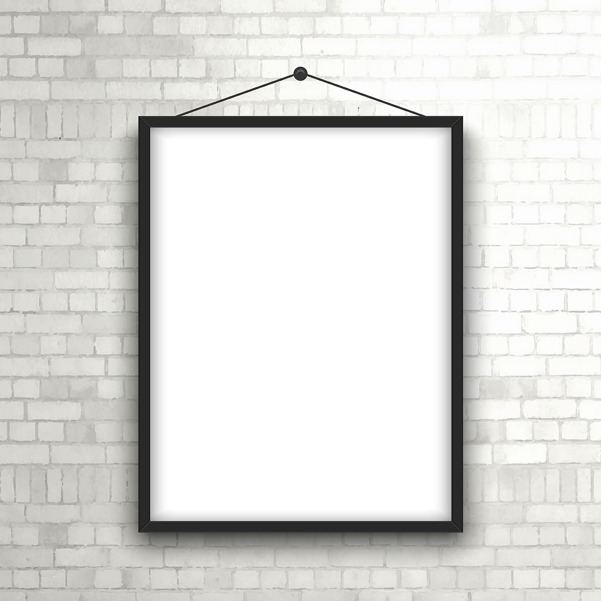 Pictures On The Wall Blank Picture Frame On Brick Wall Download Free Vector