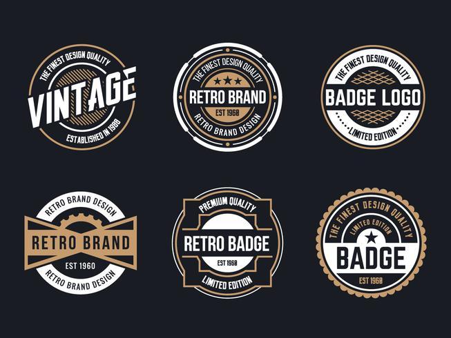 Circle Vintage and Retro Badge Design - Download Free Vector Art