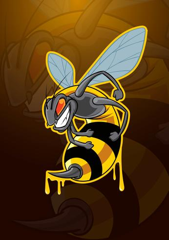 Cute Bees Wallpaper Bee Insect Mascot Logo Download Free Vector Art Stock