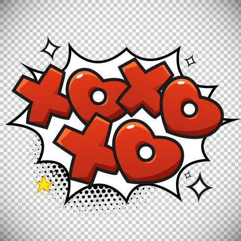 Xoxo Bubble Design - Download Free Vector Art, Stock Graphics  Images