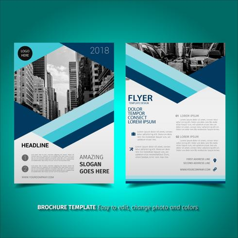 Lined Brochure Flyer Design - Download Free Vector Art, Stock