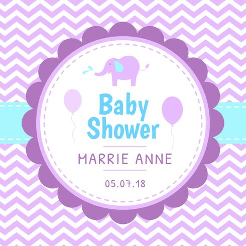Baby Shower Template Vector - Download Free Vector Art, Stock