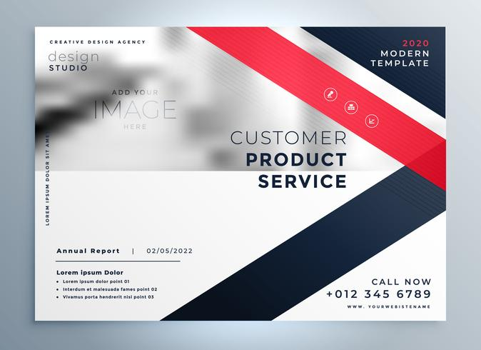 modern red business flyer professional presentation background