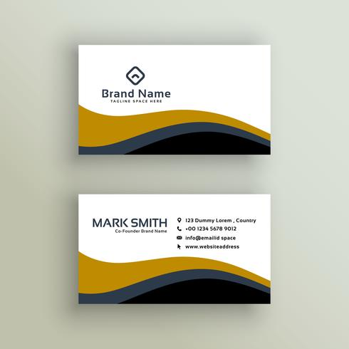 stylish wavy business card design - Download Free Vector Art, Stock