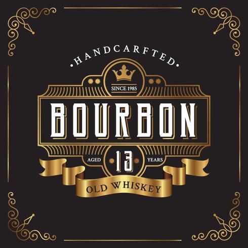 Vintage frame label design Suitable for Whiskey and Wine label