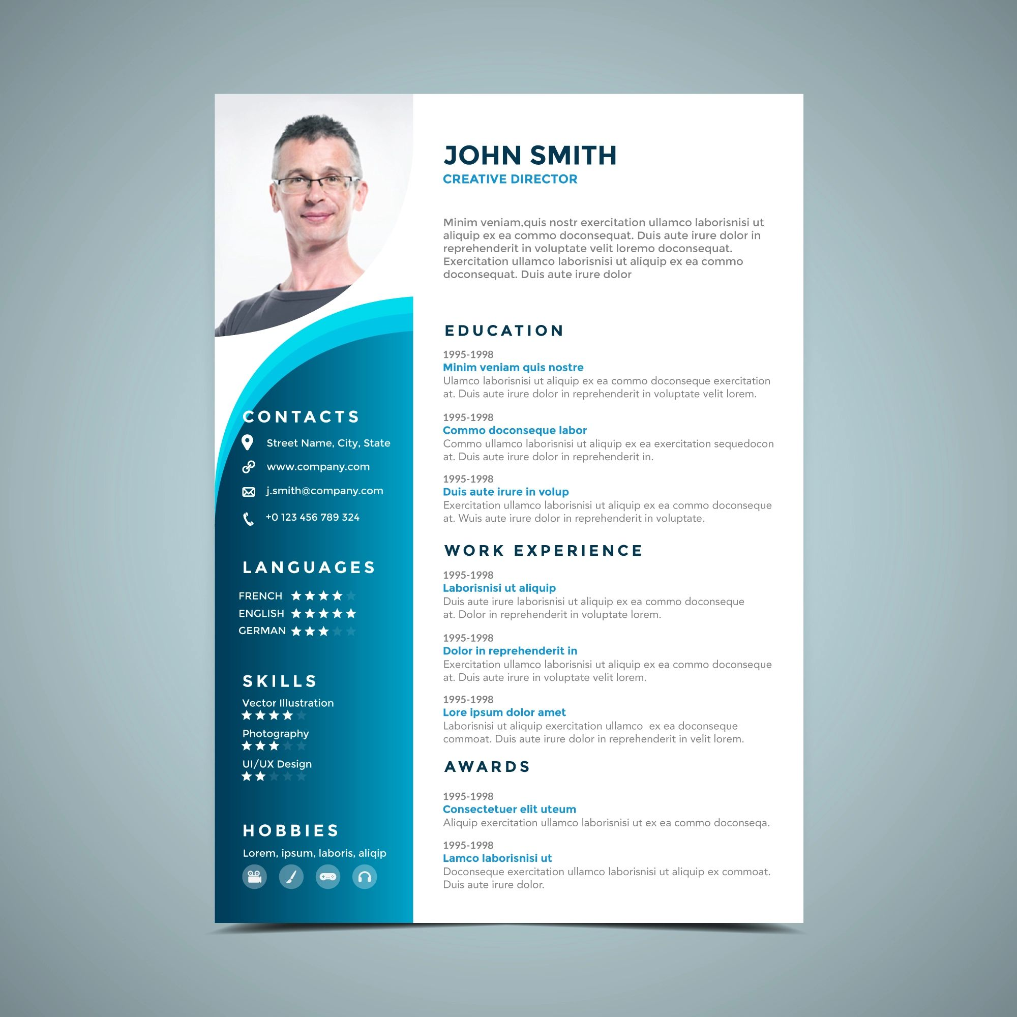 cv background design template