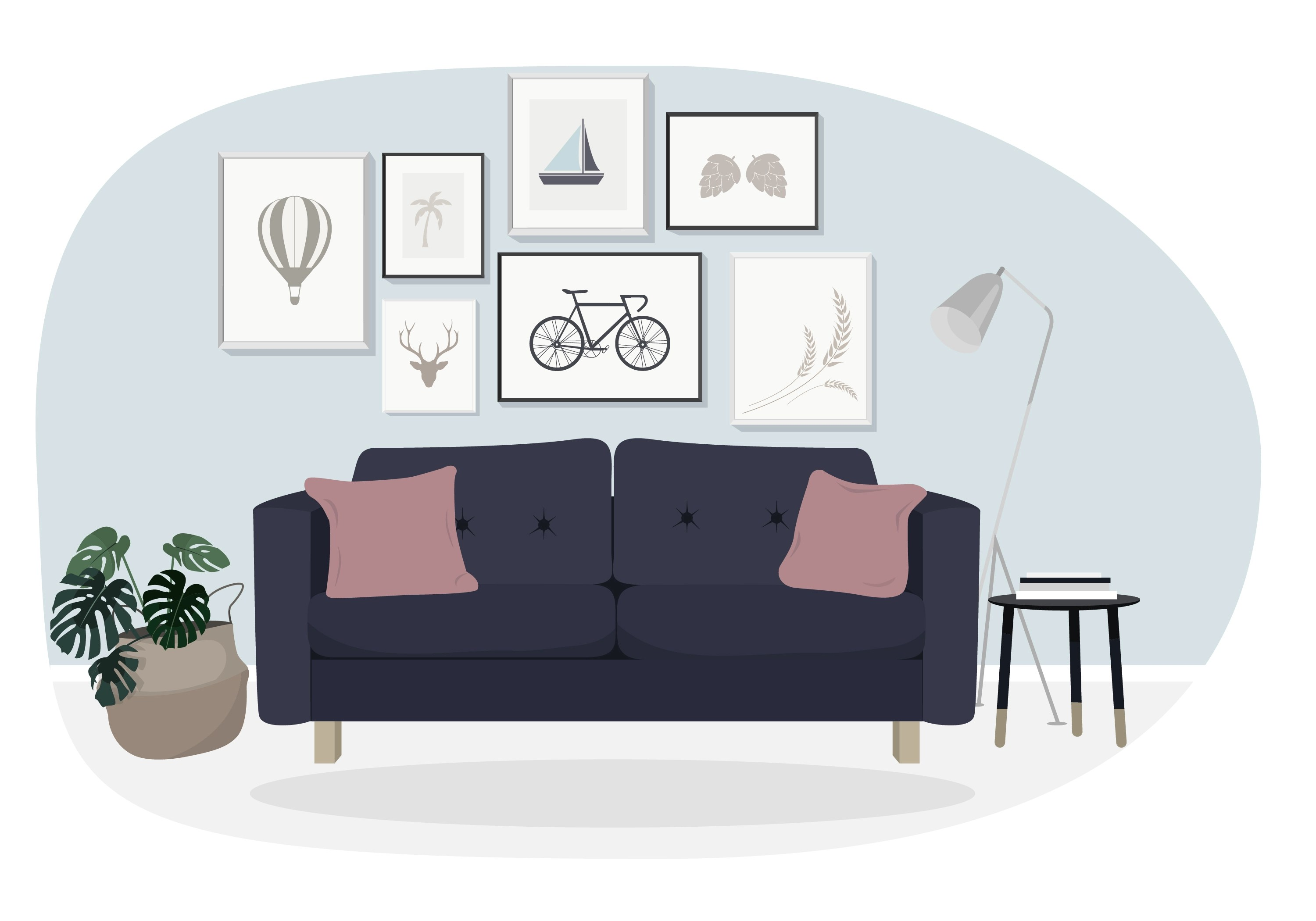 Sofa Set Vector Free Download Sofa Free Vector Art 14803 Free Downloads