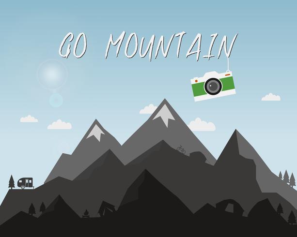 Let It Go Quote Wallpaper Go Mountain Concept Design Outdoor Travel Illustration