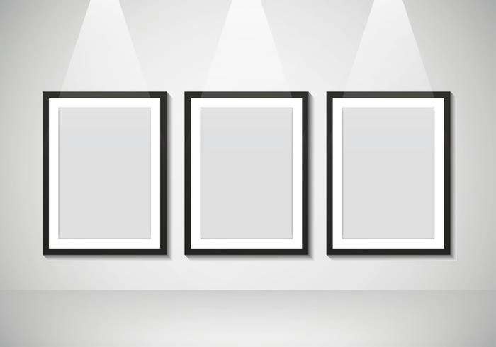 Blank Poster Mockup for Photos - Download Free Vector Art, Stock