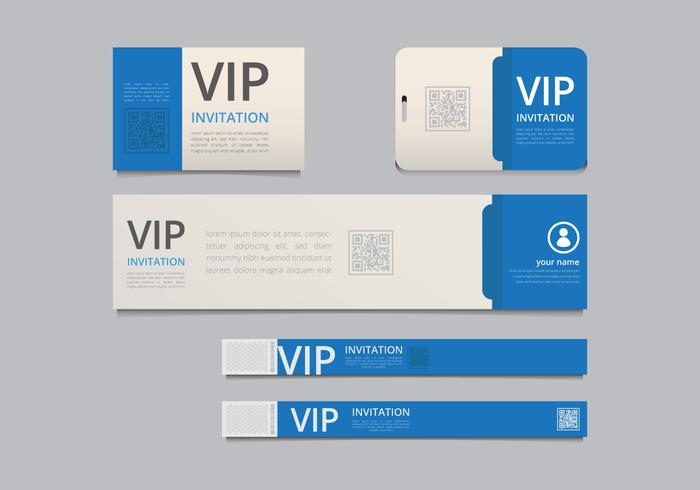 VIP Pass ID card Template VIP Pass for Event Template Realistic