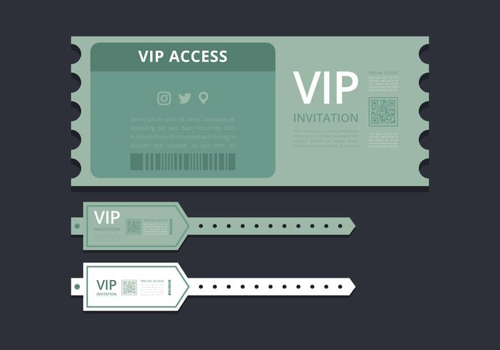 VIP Pass ID card or Ticket Template VIP Pass for Event Template