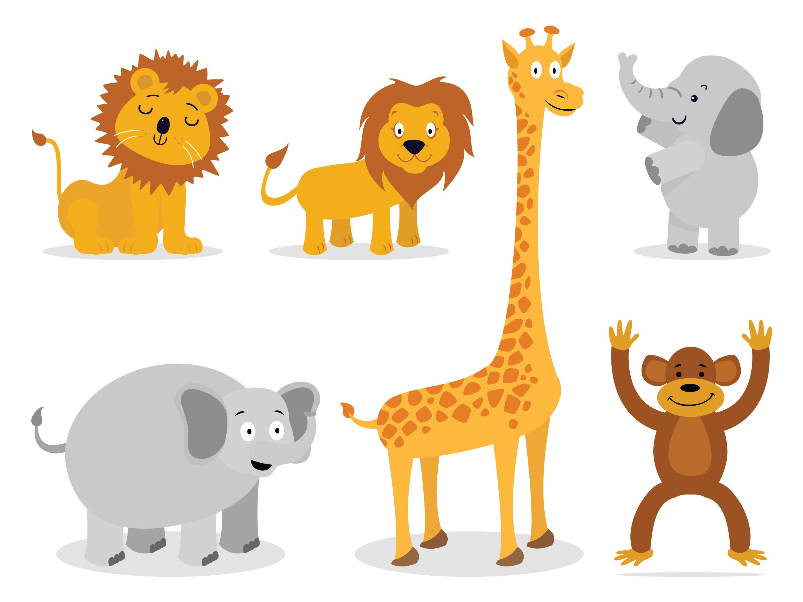 Cute Elephant Design Wallpaper Giraffe Free Vector Art 10345 Free Downloads